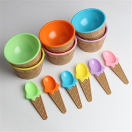 disposable ice cream bowls Australia - ice cream bowl with a spoon 914 Extraordinary
