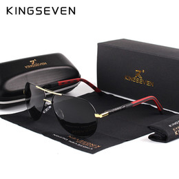 vintage shades for men Australia - KINGSEVEN Men Vintage Aluminum Polarized Sunglasses Classic Brand Sun glasses Coating Lens Driving Shades For Men Wome SH190924