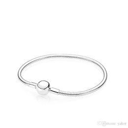$enCountryForm.capitalKeyWord Australia - Women Mens 925 Sterling Silver Hand Chain Bracelet Set Original Box for Pandora Smooth Snake Chain Bracelets