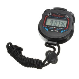 Discount sport stopwatches - Digital Sports Watch Stopwatch LCD Multifunction Timer Cord Black