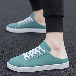 $enCountryForm.capitalKeyWord NZ - MUQGEW Fashionable canvas flats sneaker shoes for men Casual Lace Up Breathable Solid Color Shoes Sneakers chaussures femme