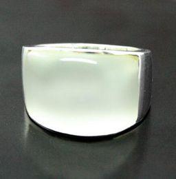$enCountryForm.capitalKeyWord Australia - good Bridal Wedding Metals Type ringe men rings 7*20mm 925 STERLING SILVER NATURAL CLEAR WHITE OPAL RING SIZE 7 8 9 10