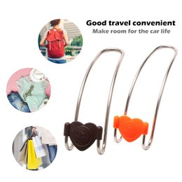 Metal car seats online shopping - Car Seat Hook Cute Metal Clips Auto Headrest Hanger Bag Car Bag Storage Cloth Fixing Interior Accessories