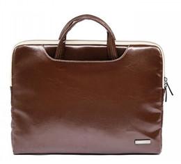 "Brand New Macbook Australia - New Brand Lisen Leather Handbag Bag For Laptop 11"",13"",15"",15.6 inch,Case For MacBook Air,Pro 13.3"",15.4""Free Drop Shipping"