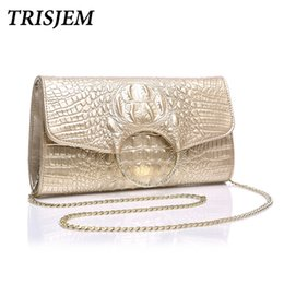 Luxury Chains Australia - TRISJEM luxury designer evening bag women party bag woman white gold wedding bags odile women messenger bags with chain