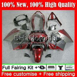 Vfr 98 Australia - Body For HONDA Interceptor VFR800R Grey Dark red VFR800RR 98 99 00 01 68MT16 VFR800 VFR 800RR 800 RR 1998 1999 2000 2001 Fairing Bodywork