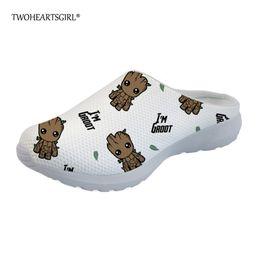 comfortable ladies sandals 2019 - Twoheartsgirl I am Groot Printed Women Slippers Comfortable Ladies Mesh Home Slippers Breathable Women flip Sandals chea