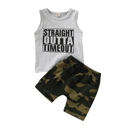 $enCountryForm.capitalKeyWord UK - 1-5Y Casual Kids Baby Boy Clothes Sets Sleeveless Letter Tank Tops Elastic Waist Camo Shorts 2Pcs Boy Outfit Cotton Clothes 1-5Y