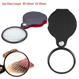 $enCountryForm.capitalKeyWord Australia - Mini Pocket 8X 50mm 5X 50mm Folding Jewelry Magnifier Magnifying Eye Glass Loupe Lens