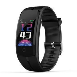gps tracking sports 2019 - QS100 color screen smart watch weather forecast sports track drinking water reminder health sports watch FOR: iphone Sam