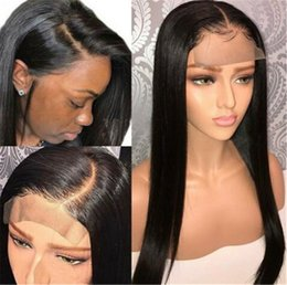26 Inch Straight Wigs Australia - Straight Full Lace Wigs With Baby Hair For Black Women 8-26 Inch Brazilian Virgin Hair With Natural Hairline Bleached Knot