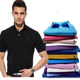 Big Man Polo Australia - Mens Polo Shirt Brands Clothing 2018 Summer Cotton Polo Shirts Short Sleeve Men Big Size Polos Shirt Jersey