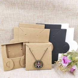 Diy Hot Pack Australia - 2018 New Hot DIY Necklace Card Pouch bag&Envolope Box Jewelry Display Packing Kraft Necklace Card Pendant white Black