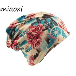 Scarf Shops Australia - miaoxi Fashion Two Used Women Floral Hat For Female Knitted Beanies Warm Scarf Winter Gorro Headwear Girls Cap Shop Top Sale