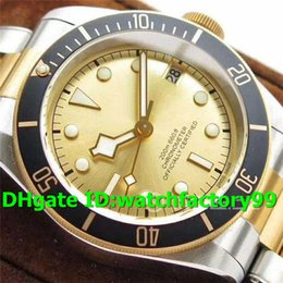 Luxury Mens Yellow Watches Australia - ZF Top Luxury M79733N Watch 18K Yellow Gold Stainless Steel Case Gold Dial Two Tone Bracelet Swiss 2824 Automatic Solid Case Back Mens Watch