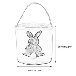 egg plush Australia - 4 Colors Easter Bucket Sequins Easter Basket Easter Bunny Bag Cute Rabbit Bunny Gift Carry Eggs Candy Bag
