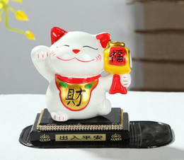 $enCountryForm.capitalKeyWord NZ - wholesale cat car decoration Fortune Cat double bone china porcelain crystal block