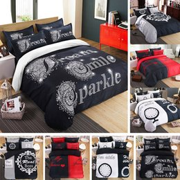 Wedding quilt set online shopping - 8 styles Simple D Couple Bedding Sets Printed Bedroom Home Textile Quilt Cover Pillowcase Duvet Cover Wedding Decoration gifts Bed Linen