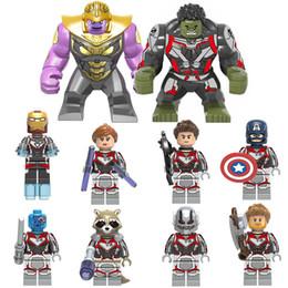 Super Blocks Australia - Avenger 4 Endgame Building Blocks Super Heroes 10 heroes Thanos Captain America Hawkeye marvel action figures Hulk Rocket Window Black Brick