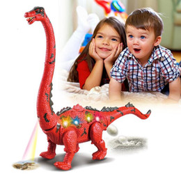 $enCountryForm.capitalKeyWord NZ - Children Toys Electric Walking Dinosaur Toy Long Neck Lay Eggs Projection Lights Roar Sounds Kids Christmas Birthday Gifts SH190913