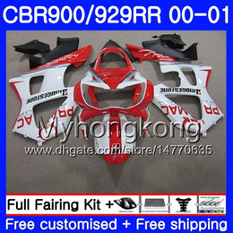 $enCountryForm.capitalKeyWord Australia - Body For HONDA CBR900 RR CBR 929 RR CBR 900RR CBR929RR 00 01 279HM.5 CBR 929RR CBR900RR CBR929 RR 2000 2001 Fairings PRAMAC red factory kit