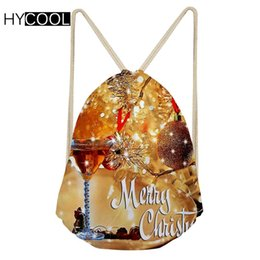 Fitness Christmas Gifts Australia - HYCOOL Kids Sports Bags Gym Sack Christmas Gift Pattern Children Outdoor Swimming Running Sack For Fitness Girls Drawstring Bags #214542