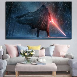 $enCountryForm.capitalKeyWord Australia - Kylo Ren The Force Star Awakens Vintage Wall Art Canvas Wars Prints Picture Modular Paintings For Living Room Poster Home Decoration