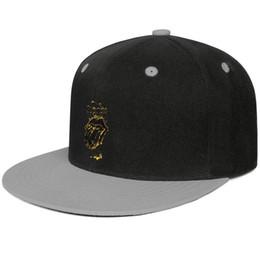 Snapbacks Animal UK - Designer mens and womens ball cap Rolling Stones Flaming Tongue flat Brim Hip Hop Snapbacks caps Hipster Travel Hat
