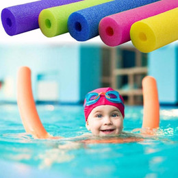 swimming pool floats foam 2020 - Swimming Floating Foam Hollow Sticks Swim Pool Water Float Aid Swimming Pool Stick Accessories Foam Outdoor Floating Pro