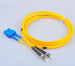 Sc St Fiber Australia - SC-ST FTTH Duplex Single Mode Fiber Optic Patchcord Fiber Jumper 3Meters Weunion
