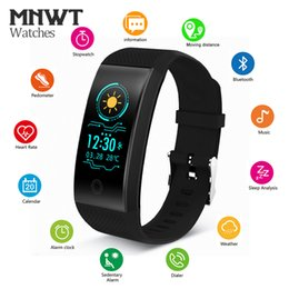 Touch Screen Sport Bracelet NZ - MNWT Smart Sports Bracelet Watch Heart Rate Tracker Blood Pressure wristband IP68 Waterproof OLED Touch Screen Watches for IOS Android