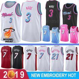 $enCountryForm.capitalKeyWord Australia - Dwyane 3 Wade Mens NCAA Basketball Jerseys Miami Dragic 7 Goran Heat Hassan 21 Whiteside 7 MBAPPE Embroidered Logo Stock S-XXL