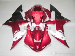 Fairing Red For Yamaha R1 Australia - 100% Fitment. Free custom Injection molding fairing kit for YAMAHA R1 2002 2003 red white black fairings YZF R1 02 03 GF25
