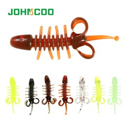lighted lures Canada - Cheap s JOHNCOO Shrimp Lure 20pcs 48mm 0.65g Soft Fishing Lure Silicon Rubber Light Jigging Lure UL Fishing Worm Swimbaits Wobbler
