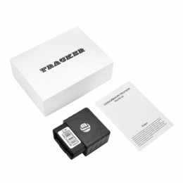 Gps Gsm Tracking Australia - Plug Play TK306 OBD GPS Tracker Car GSM Vehicle Tracking Device OBD2 16 PIN interface gps locator with platform APP