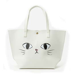 Cute Big Bags Australia - Fashion Women Shoulder Bags Tote Japan Quality Cute Big Eyes Cat Printing Women Handbag Fashion Handbags Casual Tote 172
