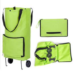 Vente en gros Roues légères pliant le sac à provisions de sac de Traval de sac à la maison la maison 20L a plié des sacs de stockage de remorquage trolley met en sac des sacs à main le paquet QQA412