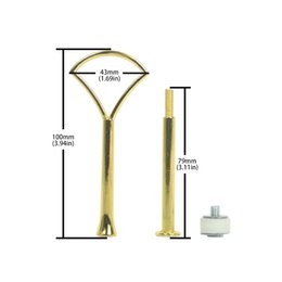 $enCountryForm.capitalKeyWord NZ - 100pcs  lot Dessert Metal Wholesale Fitting 2 Tier Fancy Golden Color Fan Pattern Cake Stand Rods