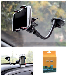 purple suction cups 2019 - Universal Car Mount Long Arm Windshield Dashboard Mobile Phone Car Holder 360 Degree Rotation Car Holder with Strong Suc