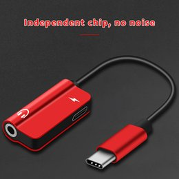 Headphone Adapter Usb NZ - USB Type C to 3.5mm Earphone Adapter Charger USB-C Audio Cable Aux 3.5 Jack Headphone Adapter for Xiaomi Mi6 MIX2