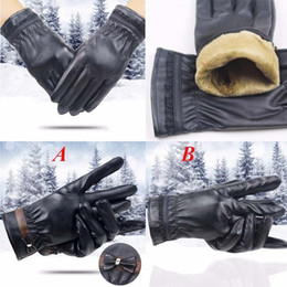 ab835fd63836 Fashion Women Lady Winter keep Warm Leather Driving Soft Lining Gloves  Mitten Comfortable gloves L50 1226