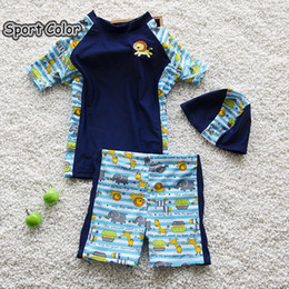 $enCountryForm.capitalKeyWord Australia - Cartoons Design Kids Swimsuit Quality Boys Swimwear Teenagers Two-pieces Lovely Animals Infant Bath Suit Children Beachwear