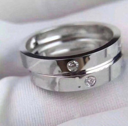 Wholesale Have stamps AU750 18K GOLD letter diamond rings for lady mens and womens party wedding engagement jewelry for couples