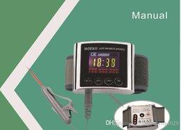 Toptan satış Yeni CE Fizyoterapi sağlık 650nm lazer ışığı / diyabet hipertansiyon tedavisi için bilek Diyot düşük seviye lazer tedavisi DDLT