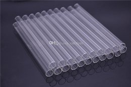 clear drinking straws NZ - Reusable Eco Borosilicate Glass Drinking Straws Clear Straight Straw 15cm*12mm Milk Cocktail Drinking Straws love rose glass oil burner pipe