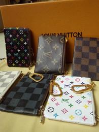 Toptan satış Brand12LouisVuittonBox olmadan Stil Tasarımcılar Coin Pouch Erkekler Kadınlar Lady Deri Madeni Para Çanta Anahtar Cüzdan Mini Cüzdan