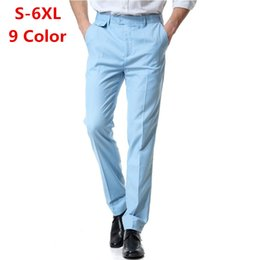 ClassiC suits for men online shopping - 4XL XL XL Custom Made Classic Slim Fit Straight Wedding Dress Suit Pants Mens Fashion Business Office Pants For Men
