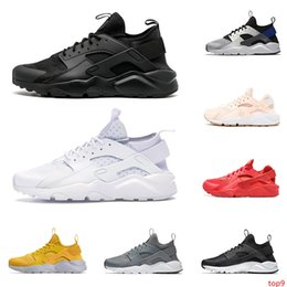 cool rubbers Canada - 2020 huarache run ultra men women running shoes triple black white red Cool Grey pink mens trainer breathable sneaker outdoor sports walking