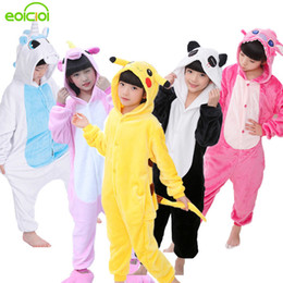$enCountryForm.capitalKeyWord NZ - Eoicioi New Flannel Baby Boys Girls Pajamas Sets Animal Unicornio Stitch Dinosaur Panda Pyjamas Kids Sleepwear Cosplay Onesie J190520