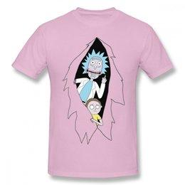 Discount popular t shirt designs - 2019 men s designer clothing tshirt Fashion Rick And Morty Cartoon T Shirt Man Popular Design Tees Shirt Round Neck Plus